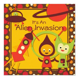 Alien Invasion Customized Birthday Invitations