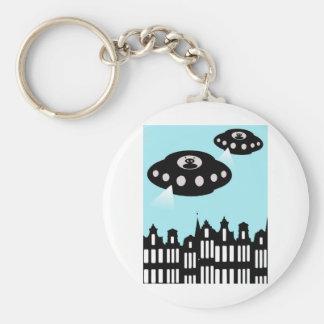 Alien invasion of Amsterdam Key Ring
