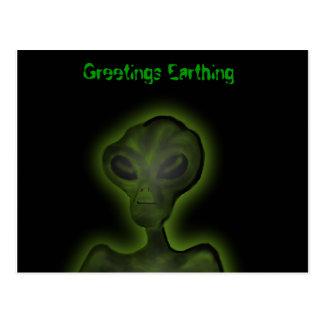 Alien Invasion Postcard