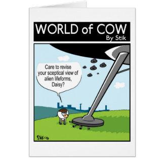 Alien invasion vs Cows Greeting Card