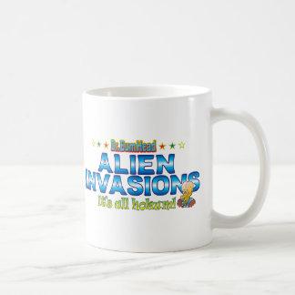 Alien Invasions Dr. B Head Basic White Mug