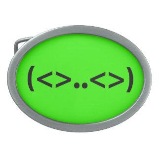 ALIEN Japanese Emoticon Oval Belt Buckles