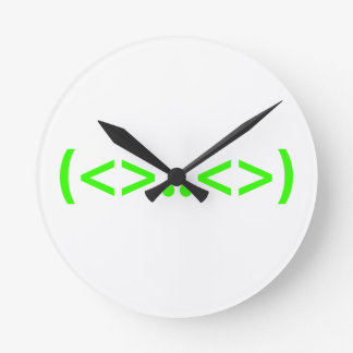 ALIEN Japanese Emoticon Round Clock