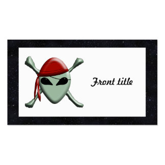 Alien Jolly Roger w Starry Background Business Card