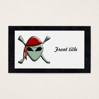 Alien Jolly Roger w/Starry Background Business Card