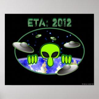 Alien Kilroy Invasion Poster