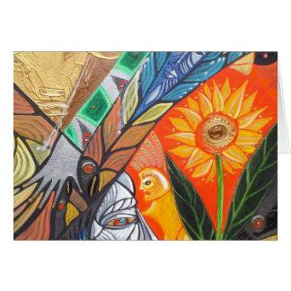 ALIEN LAND DETAIL 3 GREETING CARD