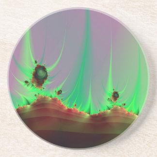 Alien Landscape in Green Coaster