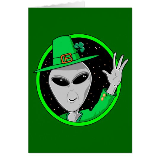 Alien Leprechaun St. Patrick's Day Card