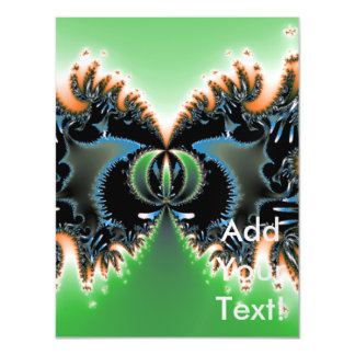 Alien Life Abstract Art Magnetic Invitations
