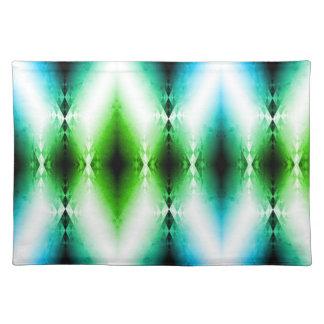 Alien Light Beam Bright Blue Green Teleport Future Placemat