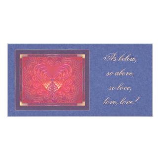 Alien Love Abstract Art Photo Card Template