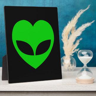Alien Love Heart Plaque