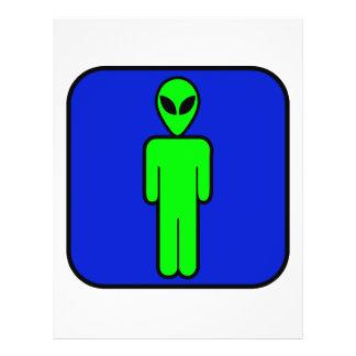 Alien Man 21.5 Cm X 28 Cm Flyer