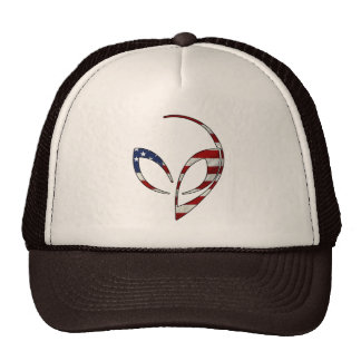 "Alien Mascot in ""American Flag"" Cap"