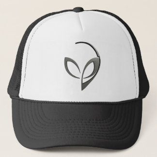 "Alien Mascot in ""Carbon Fiber"" Trucker Hat"