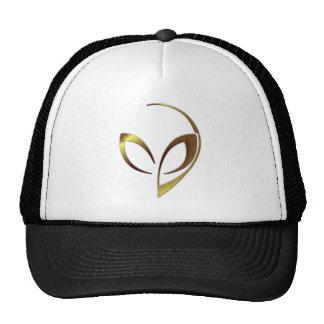 "Alien Mascot in ""Gold Swirls"" Cap"