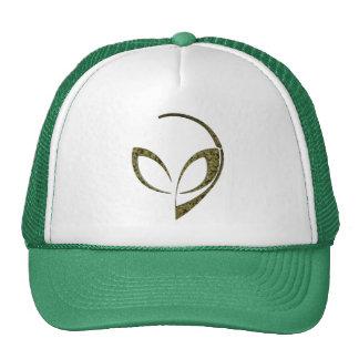 Alien Mascot in Green Digital Camo Cap