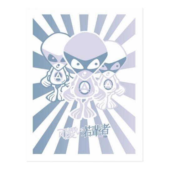 Alien Mascot Postcard