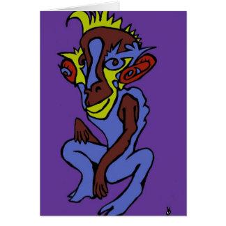 Alien Monkey Card