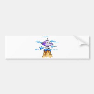 Alien Mountain Bumper Sticker