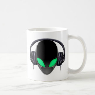 Alien Music Lover DJ - Smooth Cetacean Coffee Mug