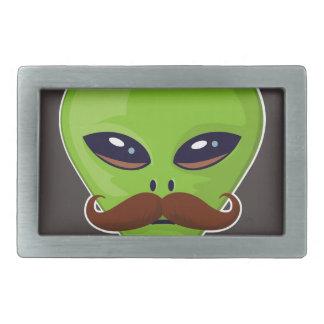 Alien Mustache Belt Buckles