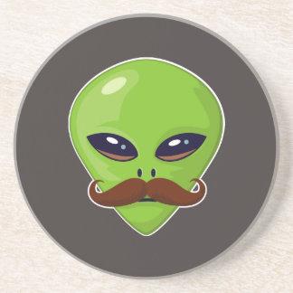 Alien Mustache Coaster