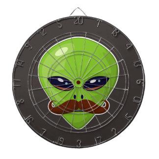 Alien Mustache Dartboard