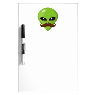Alien Mustache Dry Erase Board