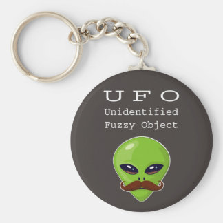 Alien Mustache Key Ring
