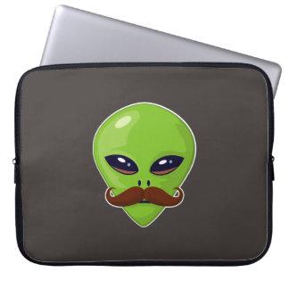 Alien Mustache Laptop Sleeve