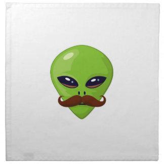 Alien Mustache Napkin