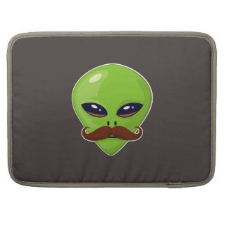 Alien Mustache Sleeve For MacBooks