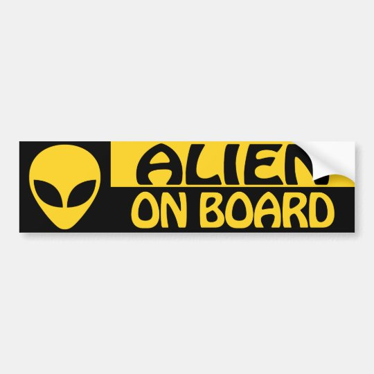 ALIEN ON BOARD BUMPER STICKER