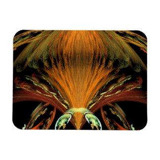 Alien Orange Insect Vinyl Magnets