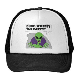 ALIEN party Trucker Hats