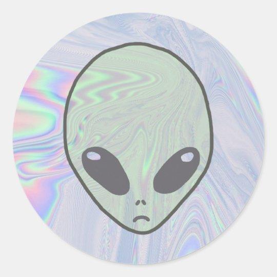 Alien Pastel Classic Round Sticker