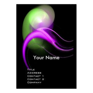 ALIEN PEARL MONOGRAM Vibrant black pink green Business Cards