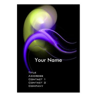 ALIEN PEARL MONOGRAM Vibrant black violet Business Cards