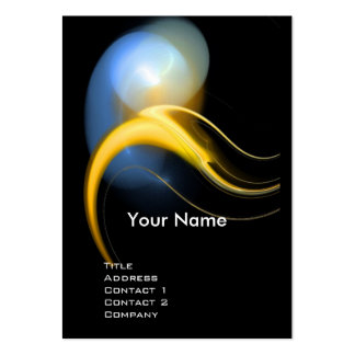 ALIEN PEARL MONOGRAM Vibrant black yellow blue Business Card Template