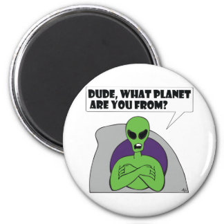 ALIEN planet 6 Cm Round Magnet