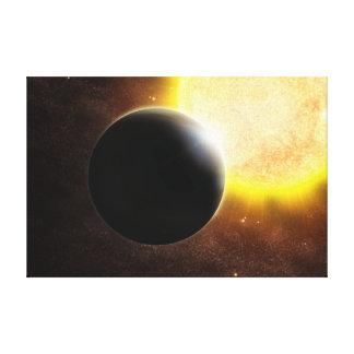 Alien Planet Star Space Art Canvas Prints