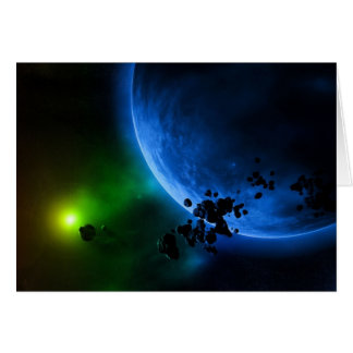 Alien Planets Greeting Card