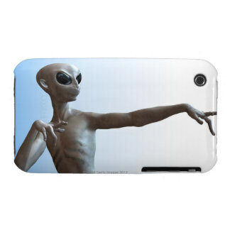 Alien Pointing iPhone 3 Cases