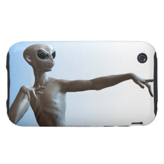 Alien Pointing Tough iPhone 3 Case