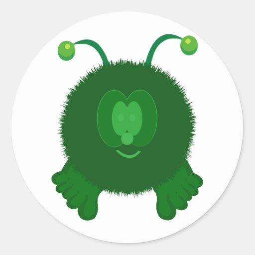 Alien Pom Pom Pal Stickers