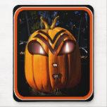 Alien Pumpkin Jack-o-Lantern Mouse Mat