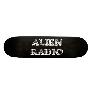 alien radio black text skate board decks