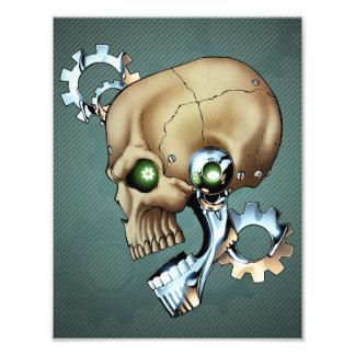 Alien Robot Skull from the Future in Chrome + Bone Photo Art